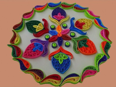 Paper Quilling   Simple And Easy rangoli designs for- diwali