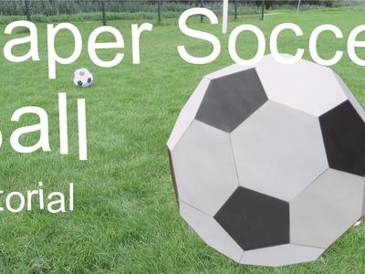 Paper Soccer Ball Tutorial