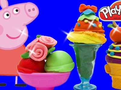 Peppa Pig Español How To Make Ice Cream With Elsa And Pikachu ! Play Doh