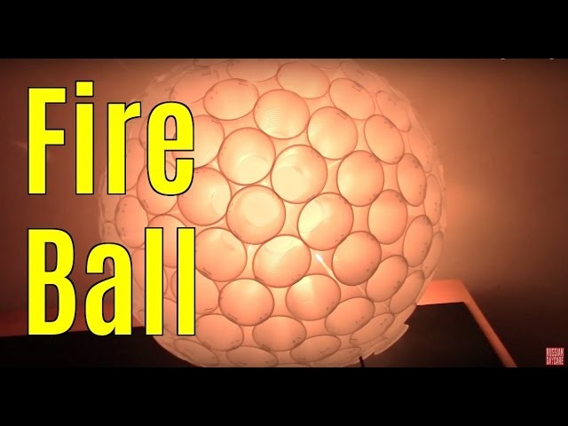 PLASTIC CUP SPHERE LAMP HOW TO