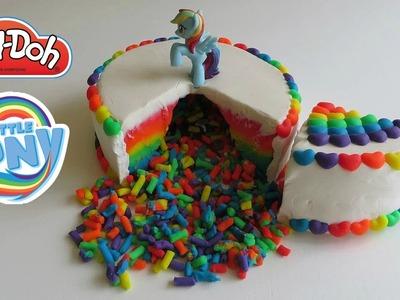 Play-Doh How To Make My Little Pony Rainbow Dash Cake Surprises Disney Princess Hello Kitty Shopkins