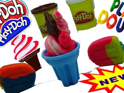 ▬►Play Doh Ice cream cupcakes playset playdough Fun Creative & How to Make Play Doh Ice Cream