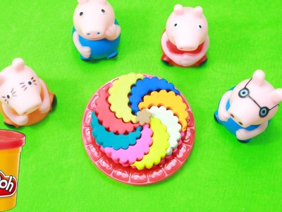 Play doh Ice Cream frozen!! -How to do rainbow lollipop playdoh with Peppa Pig