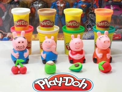 Play doh ice cream Fruit - How to make Ice Cream Fruit for Peppa Pig funny toys