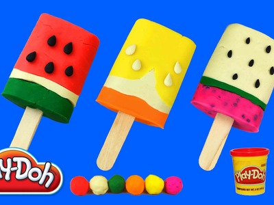 Play Doh Ice Cream, How to Make FRUIT ICE CREAM With Play Dough, Creative For Kids