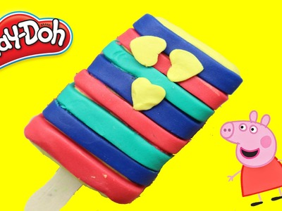 PLAY DOH ICE CREAM RAINBOW - How to make ICE CREAM RAINBOW Playdoh