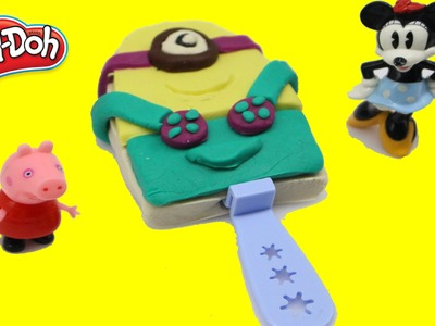 Play Doh Minions ICE Cream! - How to make ice cream toys with play-doh for Peppa Pig n2toys