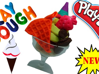 ►►Play Dough Ice Cream How To Make Play Doh Rainbow Ice Cream with Molds Fun and Creative for Kids