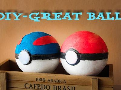 Pokemon For Kid - How To Make PokeBall (Great Ball)