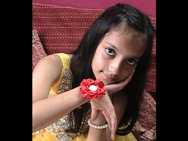 Rakhi Making Flower Rose Design Easy method  DIY