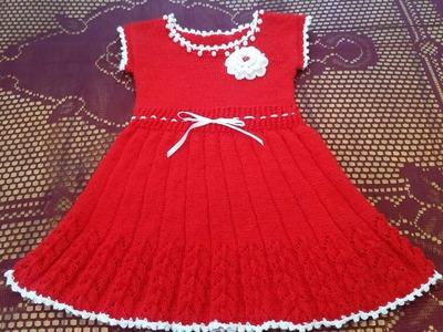 Rochita tricotata partea 3. How to knit a dress part 3.