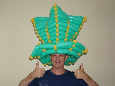 Saint Patrick's Day balloon hat.  How to make  hat of balloons
