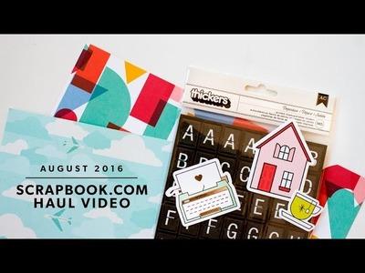 Scrapbook.com Haul Video: Amy Tangerine, Dear Lizzy, Crate Paper, Becky Higgins Project Life