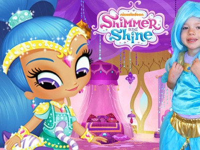 SHIMMER & SHINE Makeover Blue Shine & DIY Costume Dress Up Makeup For Cartoon Nickelodeon TV Show