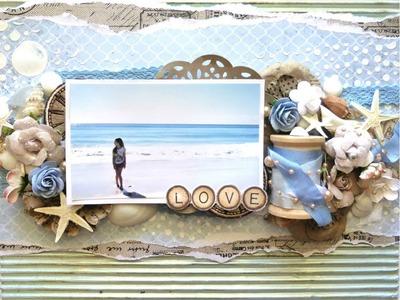 Swirlydoos Scrapbook Kit Club's July Kit - Beach Layout