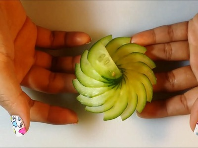 The Art Of Cucumber Carving & Cutting - How To Make Cucumber Flower