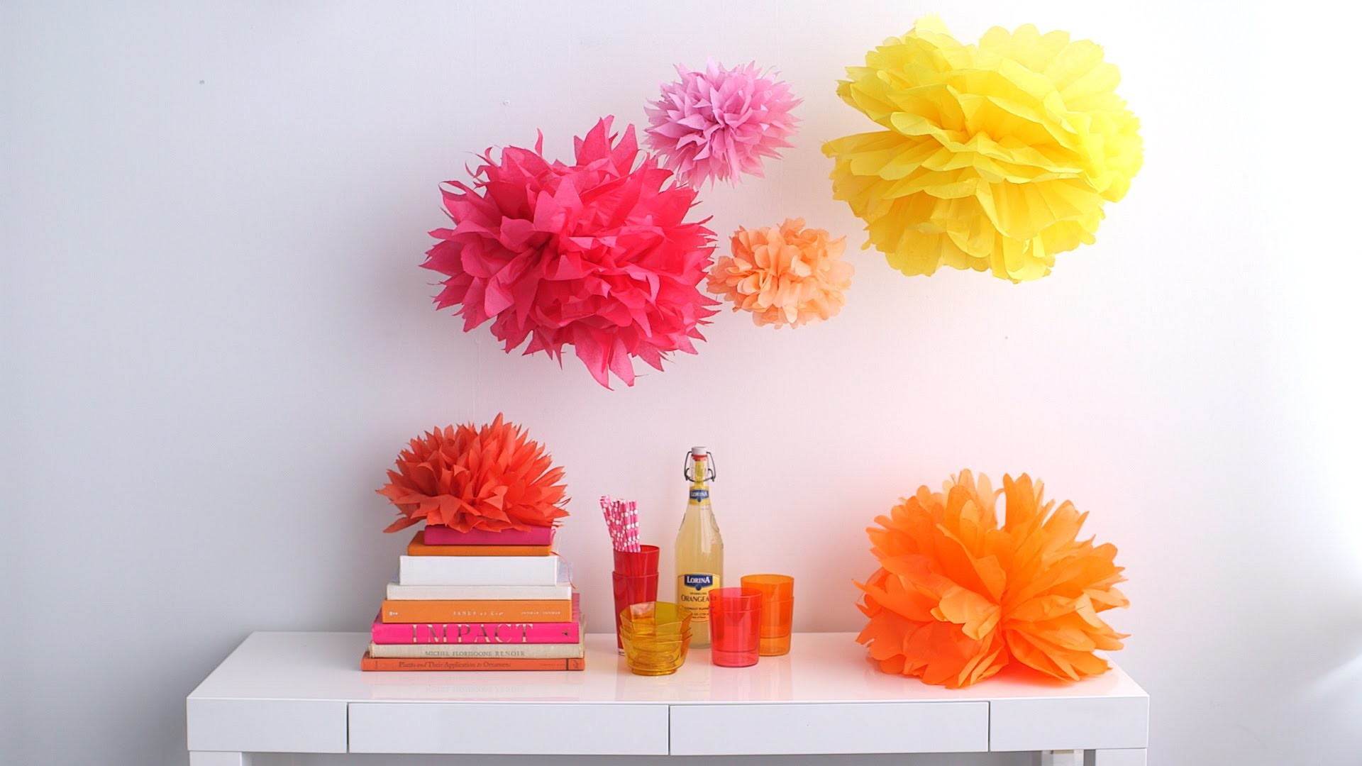 how to make tissue paper pom poms thoughtfully simple - HD1920×1080