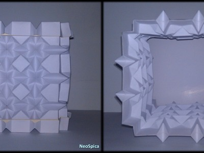 Tutorial 36 - Square and Rhombus Column Paper Folding Lamp