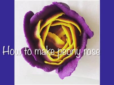 Tutorial how to make peony rose