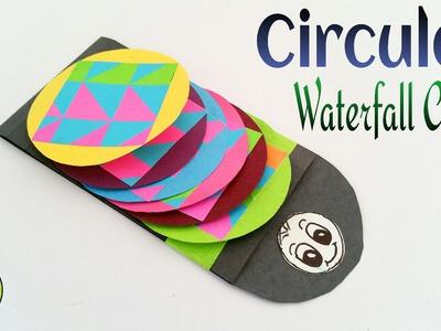 "Tutorial to make Paper ""Circular Waterfall card | Greetings"""