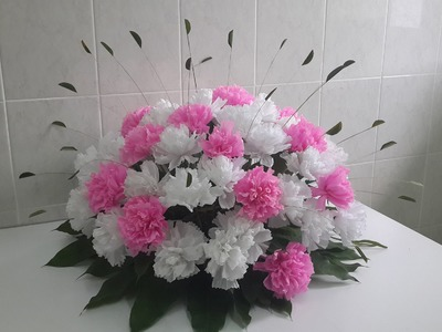 Wedding Decor: Paper Carnation Flower Arrangement