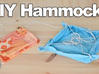 2 DIY Hamster Hammocks   #DIYJuly