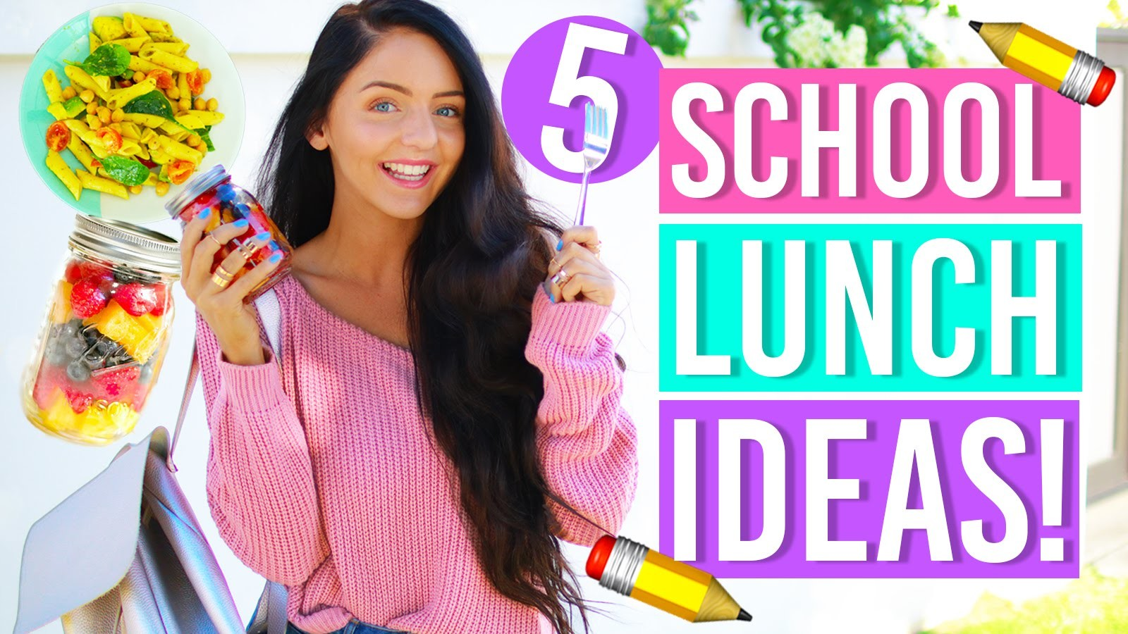A Week of Healthy Lunch Ideas for Back to School! DIY LUNCHES AND SNACKS FOR SCHOOL!