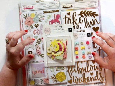 American Crafts, Pink Paislee, Crate Paper Scrapbooking Haul Video