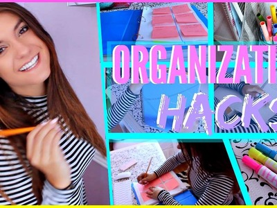 Back to School DIY Organization HACKS YOU NEED To Know !!!