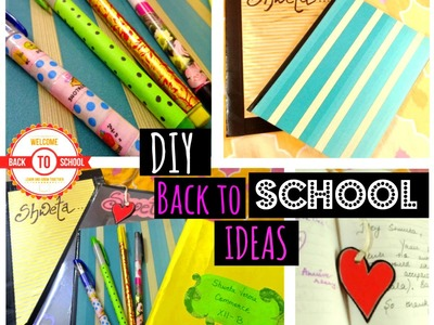 Back to School: DIY School Supplies | Notebooks, Pens, Nameslips & More | Shweta Verma