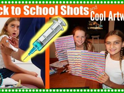 BACK TO SCHOOL SHOTS & COOL DIY ART