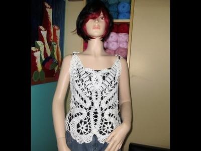 Crochet blusa de verano Mariposa en encaje de brujas Parte #1  con Ruby Stedman