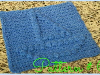 CROCHET BOBBLE STITCH BOAT
