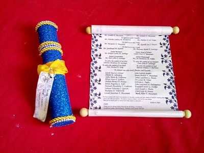 DIY# 44 Invitation Card from Recycled Cardboard Tube