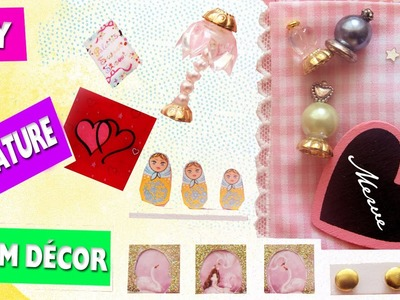 DIY | 7 Easy Doll Room Decorations, lamp, picture frames, posters, perfumes, rugs, etc