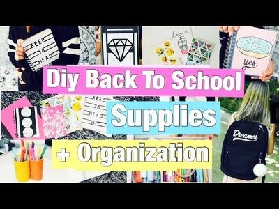 DIY Back To School Supplies + Organization 2016.