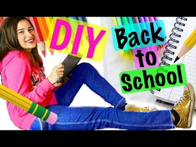 DIY Back To School Supplies! CHEAP & EASY!