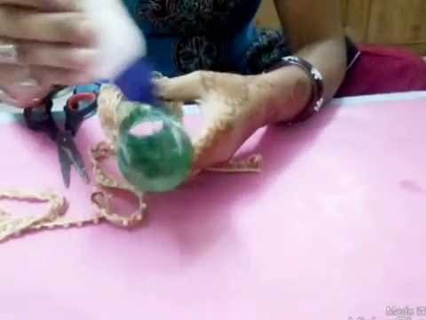 DIY.: Bangle box by waste bottle. best out of waste item. recycled craft - nidhi jain