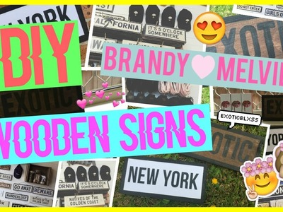 DIY BRANDY MELVILLE WOODEN BOARDS.WEATHERED SIGNS TUMBLR ROOM DECOR || ExoticBlxss