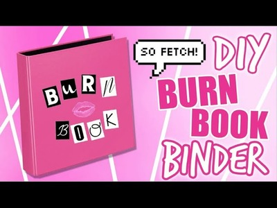DIY BURN BOOK INSPIRED BINDER. DIY MEAN GIRLS INSPIRED SCHOOL SUPPLIES