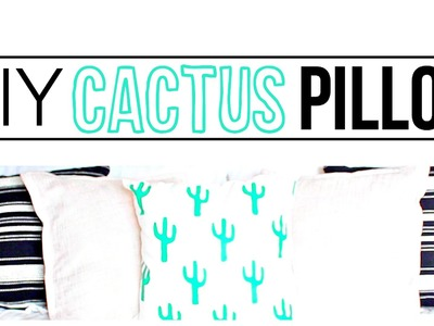 DIY Cactus Pillow | Tumblr DIY