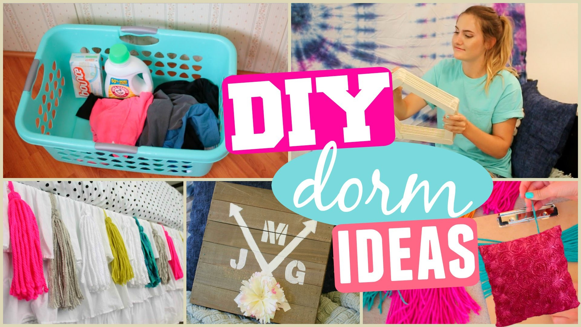 diy dorm room makeover decor organization ideas my crafts and diy projects. Black Bedroom Furniture Sets. Home Design Ideas