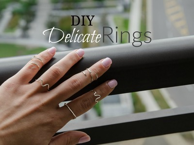 DIY  Easy Delicate rings   PayArttention