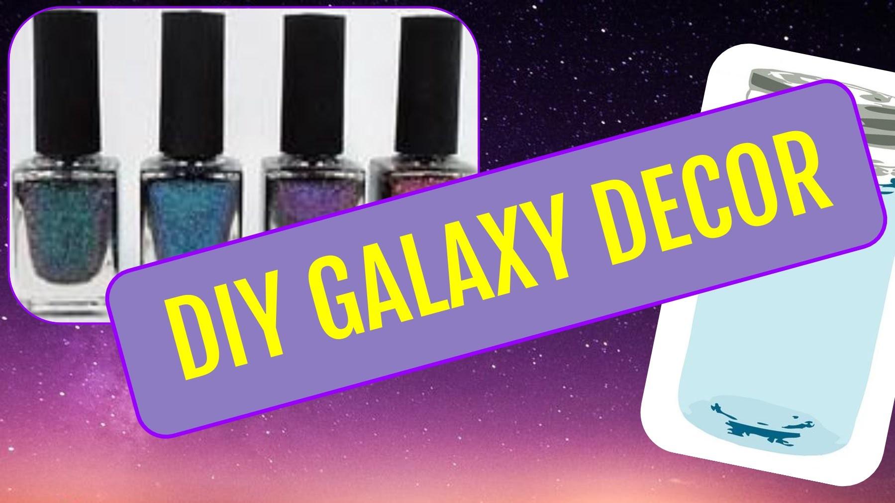 DIY GALAXY DECOR! | Mason Jar, Wall Art, + More! | #heyitsdiy