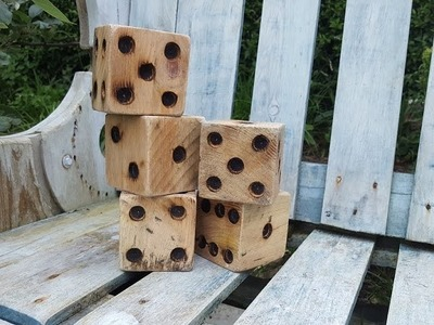DIY Garden Toys - Yard Yahtzee From Pallets