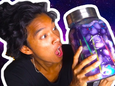 DIY GIANT GLOWING GALAXY JAR!!!