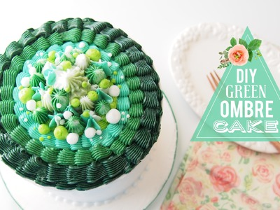 DIY Green Ombre Cake | Cake Decorating | Greggy Soriano