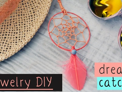 DIY jewelry earrings. necklace ➳ DREAM CATCHER ➳ How to make dream catcher