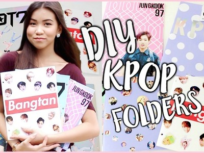DIY KPOP SCHOOL SUPPLIES (Folders) | OnlyKelly