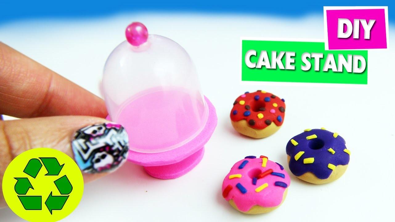 DIY | Miniature Cake Stand- Easy Doll Crafts - simplekidscrafts